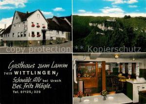 AK / Ansichtskarte Wittlingen_Bad_Urach Gasthaus zum Lamm  Wittlingen_Bad_Urach