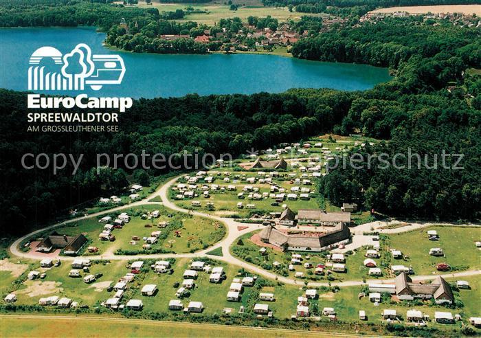 AK / Ansichtskarte Gross_Leuthen EuroCamp Spreewaldtor Fliegeraufnahme Gross_Leuthen