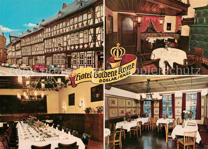 AK / Ansichtskarte Goslar Hotel Goldene Krone Goslar
