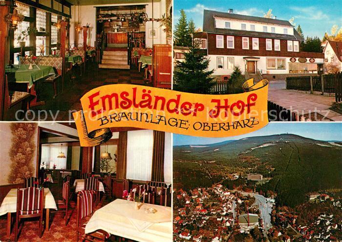 AK / Ansichtskarte Braunlage Hotel Restaurant Emslaender Hof Panorama Braunlage
