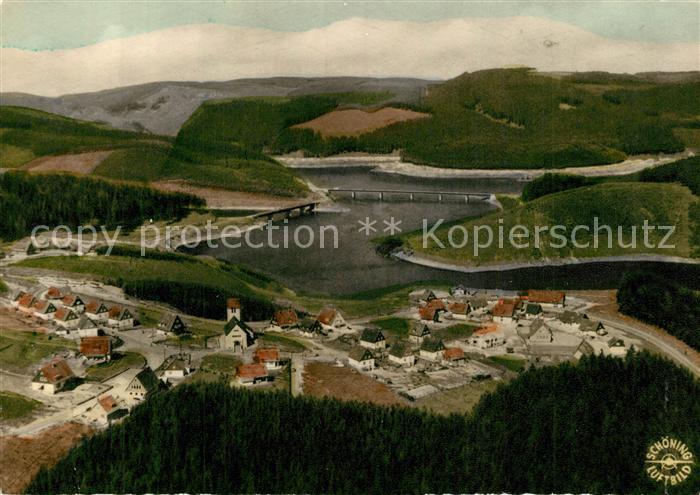 AK / Ansichtskarte Okertalsperre Fliegeraufnahme Okertalsperre