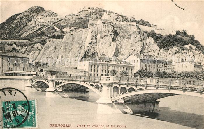 AK / Ansichtskarte Grenoble Pont de France sur l Isere et les Forts Grenoble