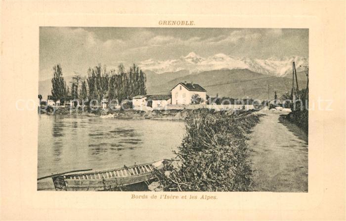 AK / Ansichtskarte Grenoble Bords de l Isere et les Alpes Grenoble