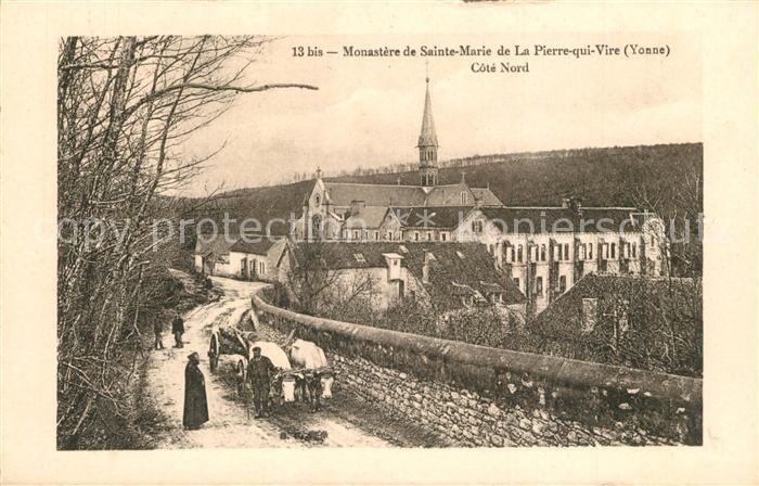 AK / Ansichtskarte La_Pierre qui Vire Monastere de Sainte Marie Kloster Ochsenkarren La_Pierre qui Vire