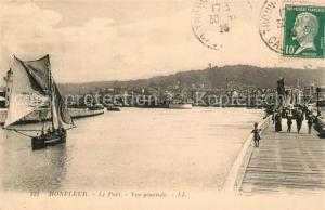 AK / Ansichtskarte Honfleur Le Port Voilier Honfleur