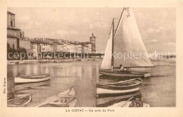 AK / Ansichtskarte La_Ciotat Un coin du port bateaux voilier La_Ciotat