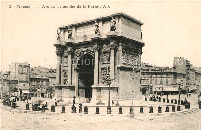 AK / Ansichtskarte Marseille_Bouches du Rhone Arc de Triomphe de la Porte d Aix Marseille