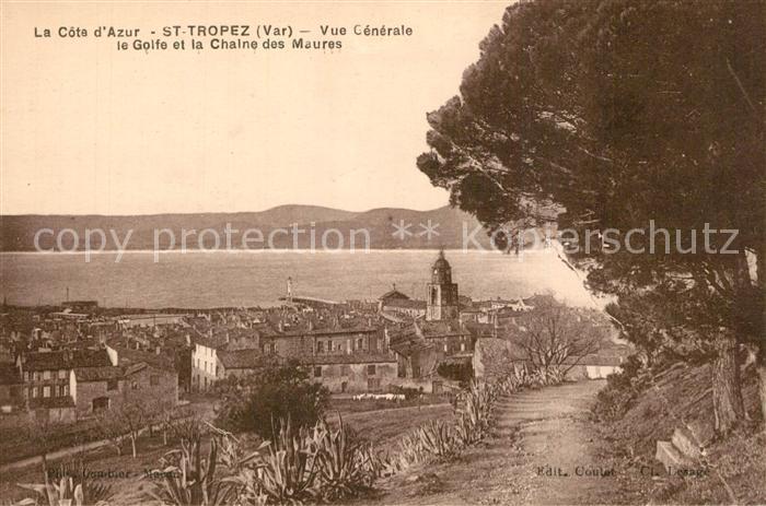 AK / Ansichtskarte Saint_Tropez_Var Vue generale Golfe et Chaine des Maures Cote d Azur Saint_Tropez_Var