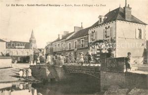AK / Ansichtskarte Saint Martin d_Auxigny Entree Route d Allogny Pont Saint Martin d Auxigny