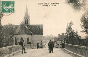 AK / Ansichtskarte Saint Denis les Ponts Bourg Eglise Saint Denis les Ponts