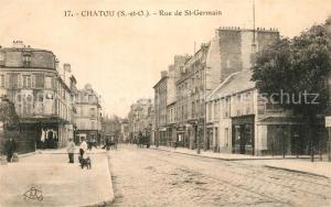 AK / Ansichtskarte Chatou Rue de Saint Germain Chatou