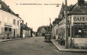 AK / Ansichtskarte Villeneuve sur Cher Route de Saint Florant Villeneuve sur Cher