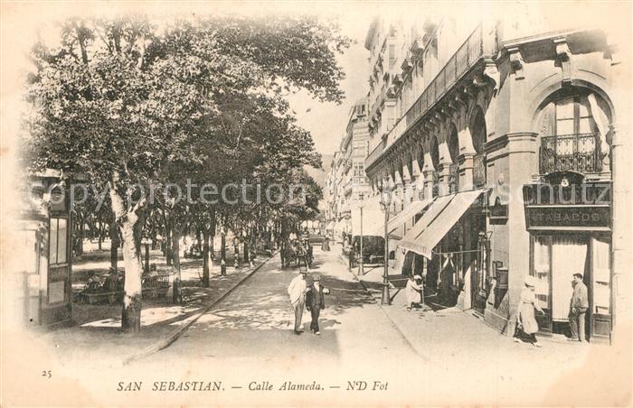 AK / Ansichtskarte San_Sebastian_Guipuzcoa Calle Alameda San_Sebastian_Guipuzcoa