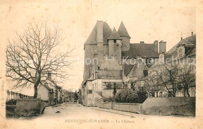 AK / Ansichtskarte Mennetou sur Cher Chateau Mennetou sur Cher
