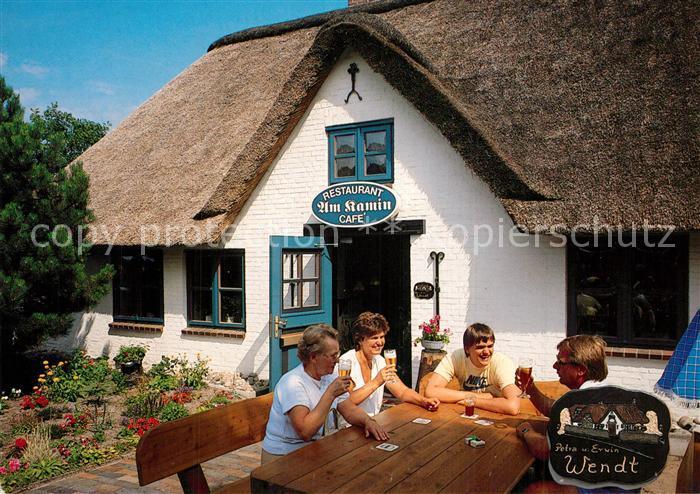 AK / Ansichtskarte St_Peter Ording Restaurant Am Kamin Cafe Terrasse  St_Peter Ording