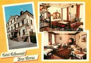 AK / Ansichtskarte Bad_Brueckenau Hotel Restaurant Zur Krone Bad_Brueckenau