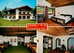 AK / Ansichtskarte Ruhpolding Gaestehaus Hirle Gastraum Fremdenzimmer Ruhpolding