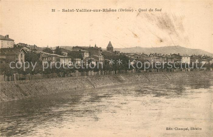 AK / Ansichtskarte Saint Vallier_sur_Rhone Quai du Sud Saint Vallier_sur_Rhone
