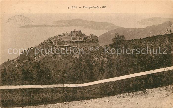 AK / Ansichtskarte Eze_Alpes Maritimes Vue generale Cote d Azur Eze_Alpes Maritimes