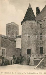 AK / Ansichtskarte Nemours_Seine et Marne Une Tourelle et Tour Caviee du Chateau Nemours Seine et Marne