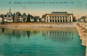 AK / Ansichtskarte Saumur Theatre Hotel de Ville vue prise de la rive droite Saumur