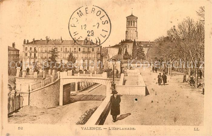 AK / Ansichtskarte Valence_Drome Esplanade Eglise Valence_Drome