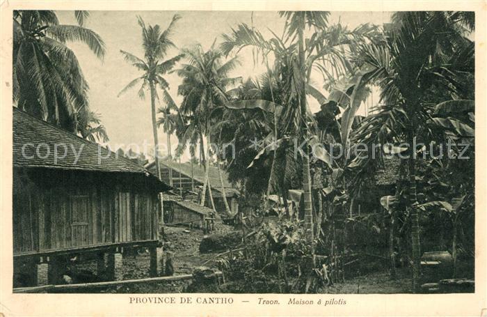 AK / Ansichtskarte Saigon Traon Maison a pilotis Province de Cantho saigon