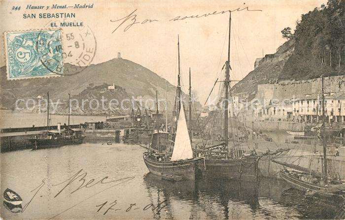 AK / Ansichtskarte Donostia_San_Sebastian El Muelle  Donostia_San_Sebastian