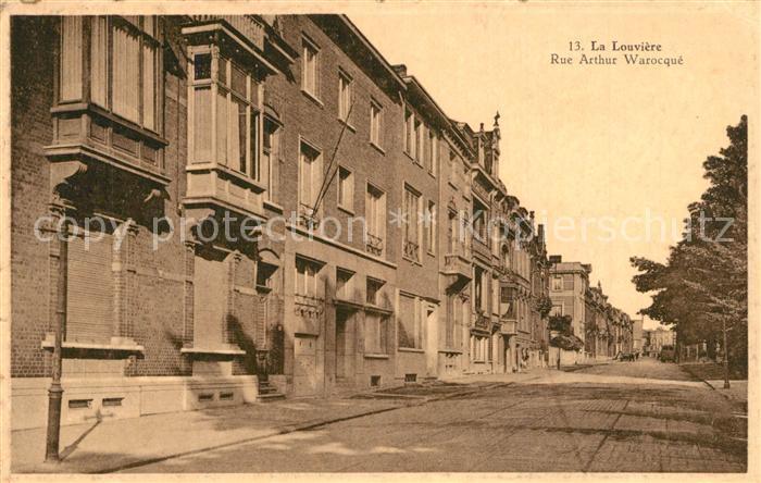 AK / Ansichtskarte La_Louviere_Hainaut Rue Arthur Warocque  La_Louviere_Hainaut