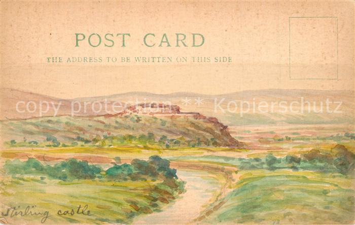 AK / Ansichtskarte Stirling Stirling Castle Handgemalt  Stirling