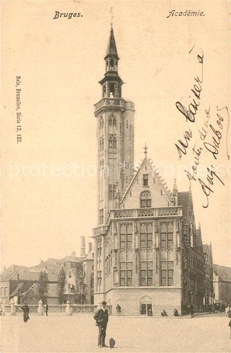 AK / Ansichtskarte Bruges_Brugge_Flandre Academie
