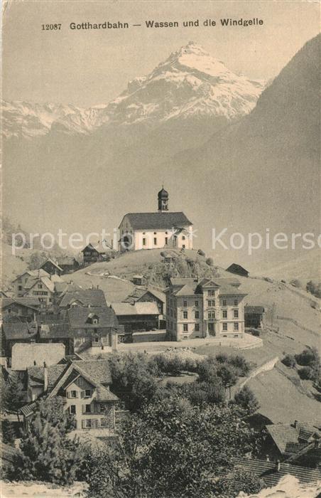 AK / Ansichtskarte Gotthardpass Wassen Windgelle  Gotthardpass