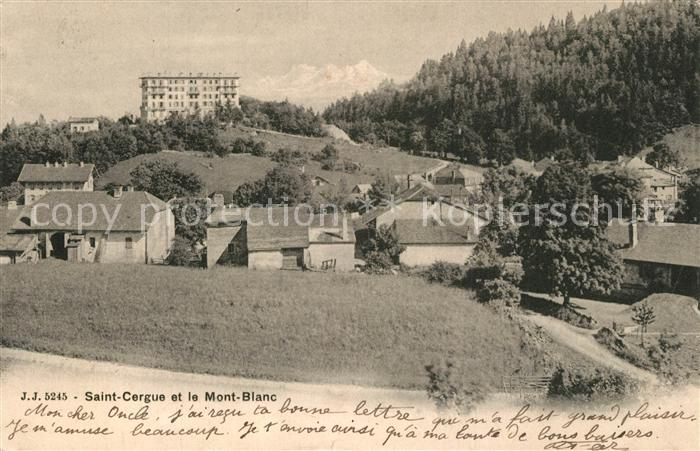 AK / Ansichtskarte Saint_Cergue_VD Mont Blanc  Saint_Cergue_VD