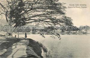 AK / Ansichtskarte Ceylon_Sri_Lanka Kandy Lake Queen s Hotel Ceylon_Sri_Lanka