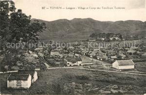 AK / Ansichtskarte Tonkin Langson Village Cap des Tirailleurs Tonkinois Tonkin