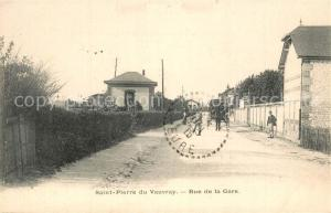 AK / Ansichtskarte Saint Pierre du Vauvray Rue de la Gare Saint Pierre du Vauvray