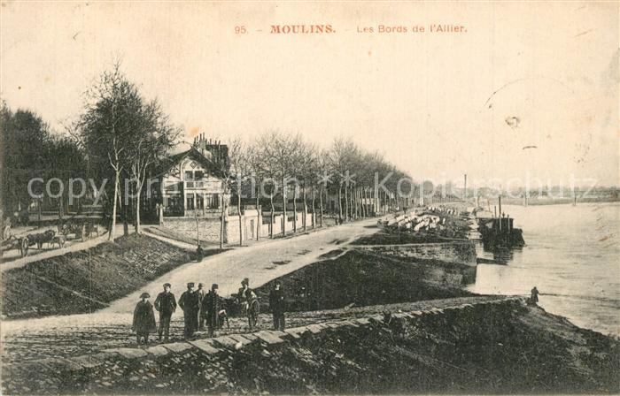 AK / Ansichtskarte Moulins_Allier Les Bords de l Allier Moulins Allier