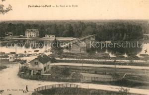 AK / Ansichtskarte Fontaine le Port Pont Foret Fontaine le Port