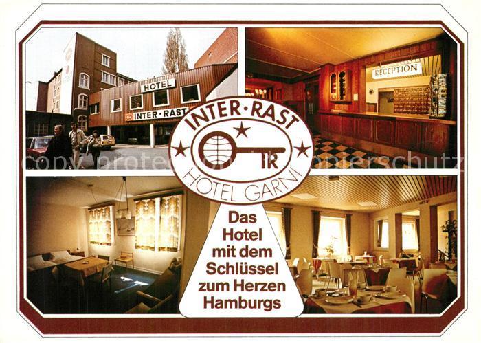 AK / Ansichtskarte Hamburg Inter Rast Hotel Garni Reception Zimmer Gastraum Hamburg