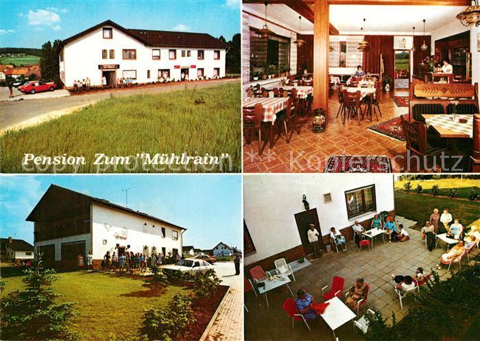 AK / Ansichtskarte Niederbeisheim Pension Zum Muehlrain Gastraeume Terrasse Niederbeisheim