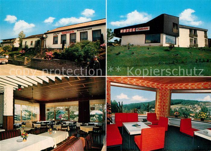AK / Ansichtskarte Hassenroth Hotel Dachsrain Cafe Talblick Gastraeume Hassenroth