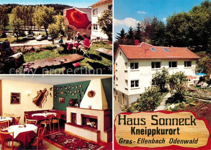 AK / Ansichtskarte Grasellenbach Gaestehaus Pension Haus Sonneck Kneippkurort Grasellenbach