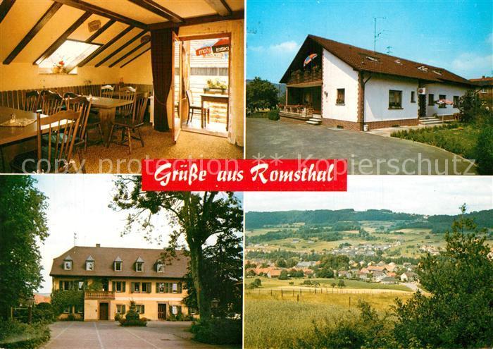AK / Ansichtskarte Romsthal Ferien auf dem Bauernhof Landschaftspanorama Romsthal