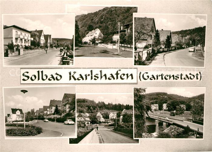 AK / Ansichtskarte Bad_Karlshafen Teilansichten Solbad Gartenstadt an der Weser Bad_Karlshafen