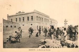AK / Ansichtskarte Djibouti Marche aux Bestiaux  Djibouti