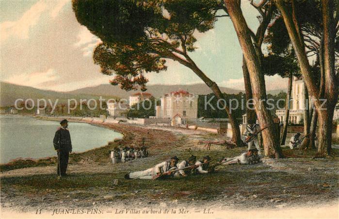 AK / Ansichtskarte Juan les Pins Villas au bord de la Mer  Juan les Pins