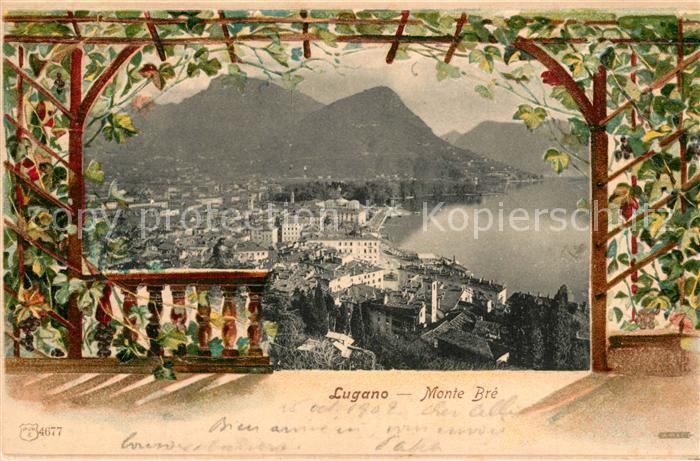 AK / Ansichtskarte Lugano_Lago_di_Lugano Monte Bre Lugano_Lago_di_Lugano