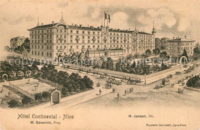 AK / Ansichtskarte Nice_Alpes_Maritimes Hotel Continental Nice_Alpes_Maritimes