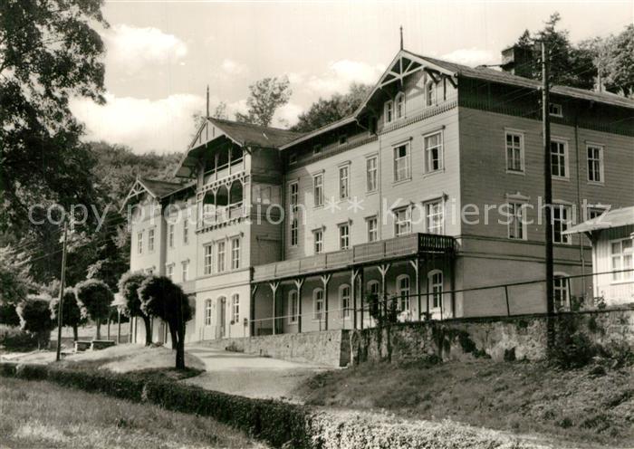 AK / Ansichtskarte Gernrode_Harz Stephanus Stiftung Feierabendheim Heim Hgental Gernrode Harz