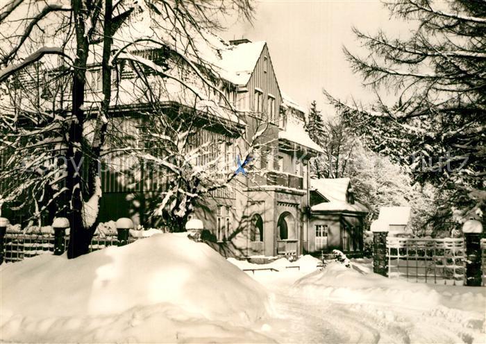AK / Ansichtskarte Benneckenstein_Harz MDI Ferienheim Wilhelm Bahnik im Winter Benneckenstein_Harz